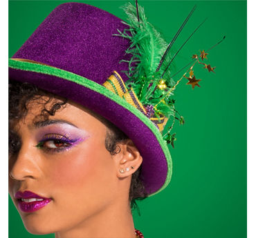 Mardi Gras False Eyelashes Idea