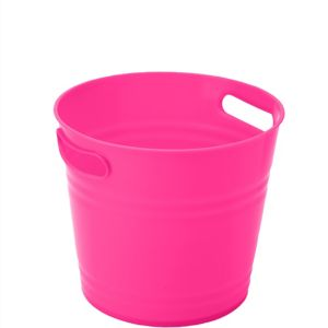 Bright Pink Plastic Ice Bucket