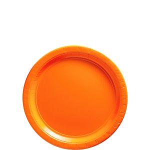 Orange Paper Dessert Plates 20ct