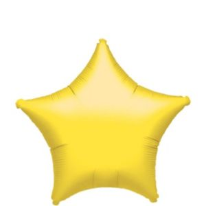 Foil Yellow Star Balloon 18in
