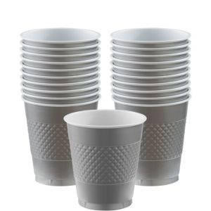 Silver Plastic Cups 20ct