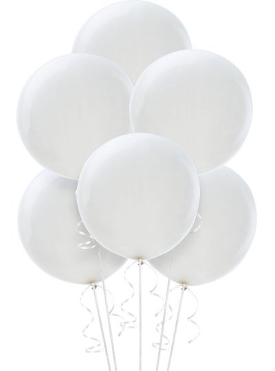 Premium White Balloons 6ct