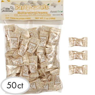 50th Anniversary Pillow Mints 50ct