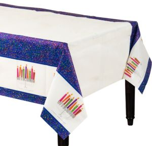 Playful Menorah Hanukkah Paper Table Cover