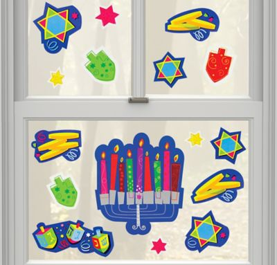 Happy Hanukkah Vinyl Window Decorations 15ct