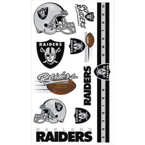 Oakland Raiders Tattoos 10ct