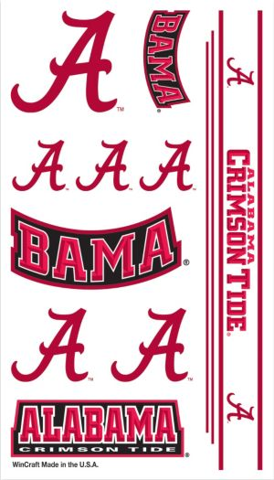 Alabama Crimson Tide Tattoos 7ct
