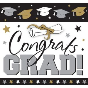 Glitter Golden Grad Graduation Cutout