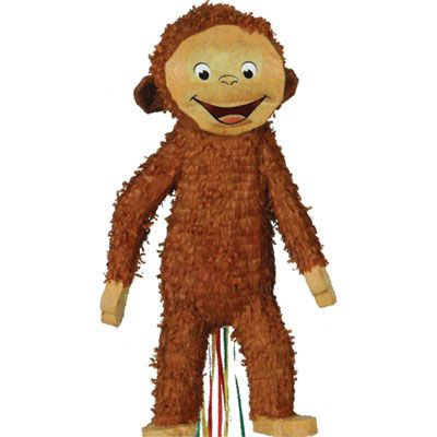 Pull String Curious George Pinata