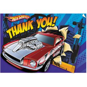 Hot Wheels Thank You Notes 8ct