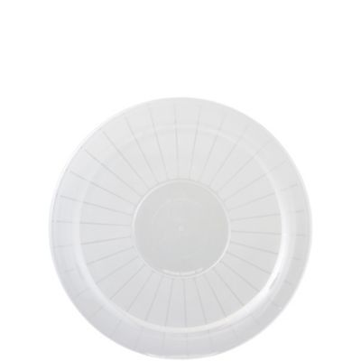 CLEAR Plastic Round Platter 12in