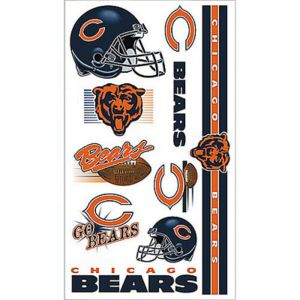 Chicago Bears Tattoos 10ct
