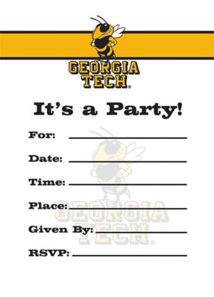 Georgia Tech Yellow Jackets Invitations 8ct