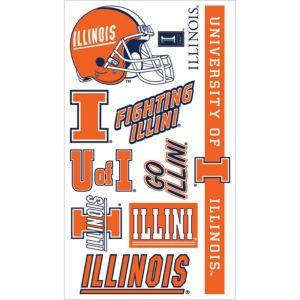 Illinois Fighting Illini Tattoos 7ct