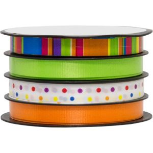 Dots & Stripes Curling Ribbons 4ct