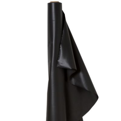 Extra-Long Black Plastic Table Cover Roll