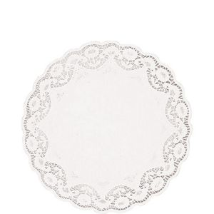 White Round Paper Doilies 48ct