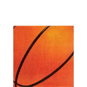 Basketball Beverage Napkins 16ct