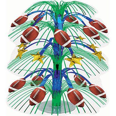 Football Cascade Centerpiece