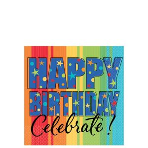 A Year to Celebrate Happy Birthday Beverage Napkins 16ct