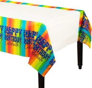 A Year to Celebrate Happy Birthday Table Cover