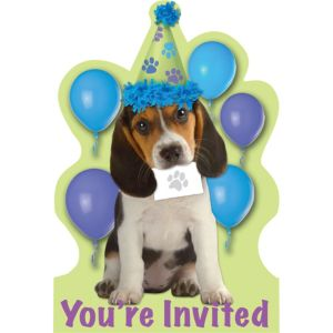 Party Pups Invitations 8ct