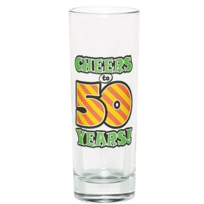 50th Birthday Tall Shot Glass