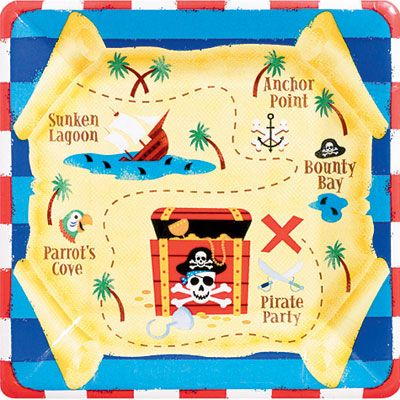 Pirate's Treasure Lunch Plates 8ct