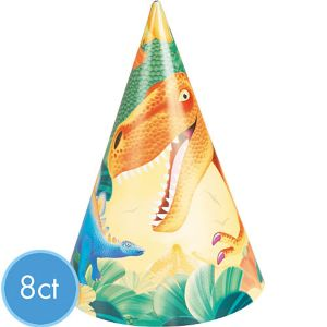 Prehistoric Dinosaurs Party Hats 8ct