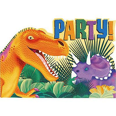 Prehistoric Dinosaurs Invitations 8ct