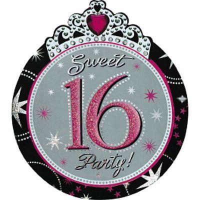 Sparkle Sweet 16 Invitations 8ct