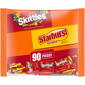 Skittles & Starburst Fun Size Variety Mix 90ct