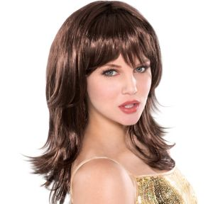 Flirty Feathered Brown Wig