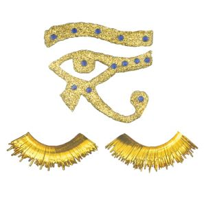 Egyptian Diamond Glitter Tattoo and Eyelashes Set