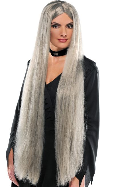 Long Grey Wig Party City