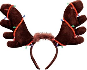 Christmas Lights Moose Antlers Headband