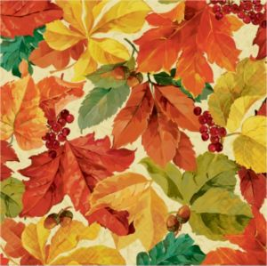 Elegant Leaves Dinner Napkins 16ct