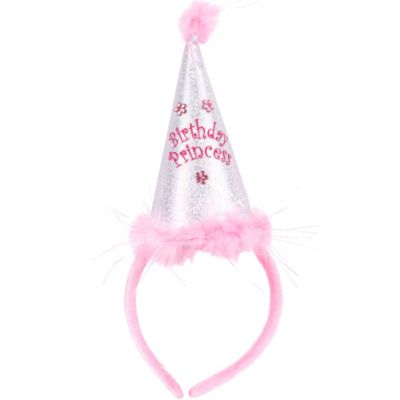 Marabou Birthday Princess Party Hat Headband