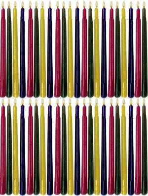 Multi-Colored Hanukkah Candles 44ct