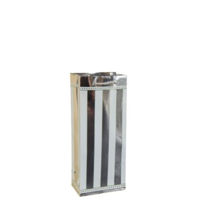 Silver Stripe Wine Bag