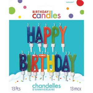 Happy Birthday Candle Picks 13ct