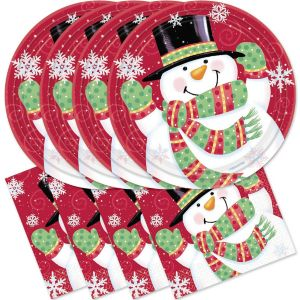 Cheerful Snowman Lunch Set 60pc