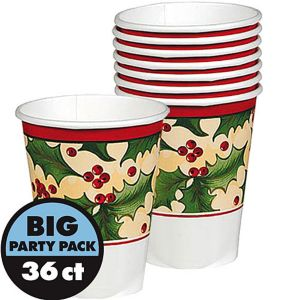 Winter Holly Cups 36ct