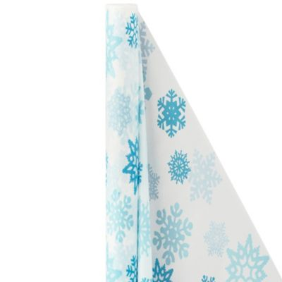 Blue Snowflake Table Cover Roll