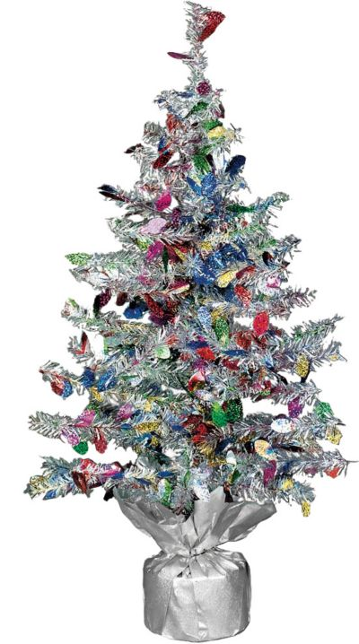 Tinsel Mini Christmas Tree 19in Party City