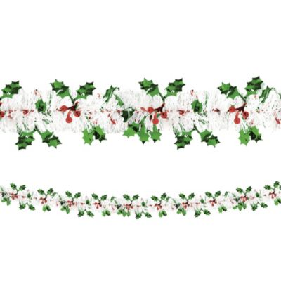 Holly Tinsel Garland