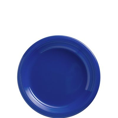 Royal Blue Plastic Dessert Plates 20ct