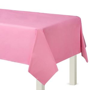 Pink Plastic Table Cover