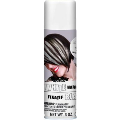 White Temporary Hair Color Spray 3oz