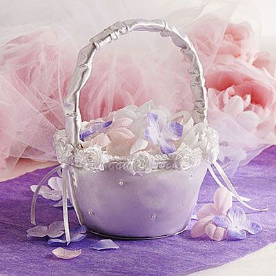 Scattered Pearl Wedding Flower Girl Basket